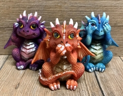 Figur - Drei Weise Drachen - Three Wise Dragonlings - 8,5cm