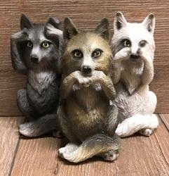 Figur - Drei Weise Wölfe - Three Wise Wolves 10cm