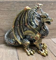 Statue - Steampunk - Drache - Mechanical Protector 20cm