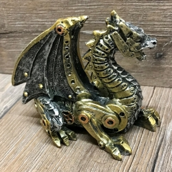 Statue - Steampunk - Drachenjunges - Mechanical Hatchling 11cm