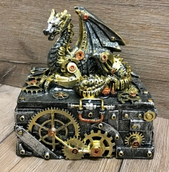 Truhe - Steampunk Drachentruhe - Secrets of the machine 18,5cm