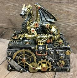 Truhe - Steampunk Drachentruhe - Secrets of the machine 18,5cm