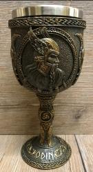 Kelch mit Stahleinsatz - Odin - nordischer Göttervater