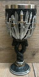Kelch mit Stahleinsatz - Schwerter/ Sword Goblet