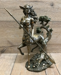 Statue - Dryade/ Baumgeist - bronziert/ coloriert - Dekoration - Ritualbedarf