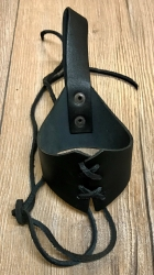 Trinkhorn - Gürtelhalter aus Leder zum Schnüren 0,6l - 1,0l