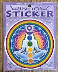 Fenster Aufkleber - Fensterbilder rund 10,5cm - Mandala Lichtkörper/ Light Body - Window Sticker