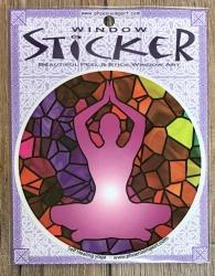 Fenster Aufkleber - Fensterbilder rund 10,5cm - Selbstheilungs Yoga/ Self Healing Yoga- Window Sticker
