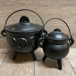 Räucher- Kessel aus Gusseisen - klein (9cm)