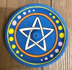 Räucherstäbchen - Halter aus Ton - Pentagramm