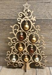 Kugeltraum 20cm - Cappucino - Weihnachtsbaum - Yuletanne - Weihnachtsdeko - leicht angebrochen