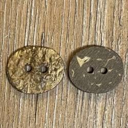 Knopf aus Kokosnuß – 2-Loch – oval - 18mm - Ausverkauf