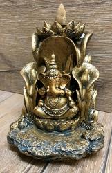 Räucherkerzen - Räucher-Kegelbrenner - Backflow - Ganesha & Lotus