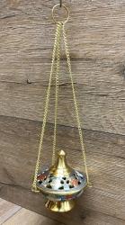 Räuchergefäß - Ampel Kymala / Schwenker ca. 9cm hoch - Messing bunt