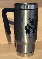 Tasse - Travel Mug/ Coffee to go - LARP ist BUNT - weiß oder silber