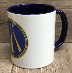 Tasse - AWEN Symbol in blau (Barde), grün (Ovate) & weiß/gelb (Druide) - Keramiktasse - verschiedene Farben