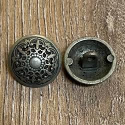 Knopf aus Metall – ornament durchbrochen - Öse - 18mm - Ausverkauf