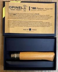 Opinel Rostfrei - Nr. 08 mit 11cm Heftlänge - Platane - spiegelpoliert 12C27 - in Geschenkbox - limitiert auf 6.000 Stück