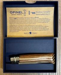 Opinel Rostfrei - Nr. 08 - 11cm - Birke laminiert braun  - 12C27 - in Geschenkbox