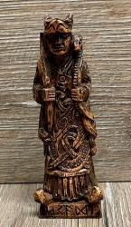 Statue - Skadi Göttin des Winters Figurine klein - Holzfinish - Dekoration - Ritualbedarf