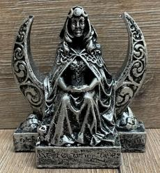 Statue - Mondgöttin Figurine extra klein - Moon Goddess small - Silberoptik - Dekoration - Ritualbedarf