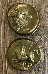 Larp Münze - Replik - 4. Jh v.Chr. Stater von Korinth - gold - 19mm, 3,2mm, 6g
