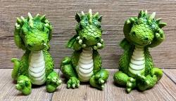 Figur - Lustige Drachen - Die Drei Weisen 3er Set  - Nichts Hören, Sagen & Sehen coloriert