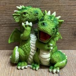 Figur - Lustige Drachen - Paar coloriert - Flüstern