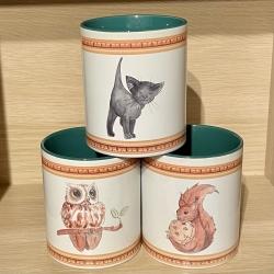 Tasse - Wichtelweihnacht Eichhörnchen, Kätzchen oder Käutzchen - Keramik