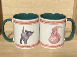 Tasse - Wichtelweihnacht Eichhörnchen & Kätzchen - Keramik