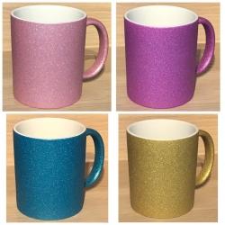 Tasse - Wunschmotiv - Spark-Glitzer - verschiedene Farben