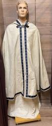 OBOD - Mantel mit Kapuze & Drachenschließe - AWEN Borte - blau