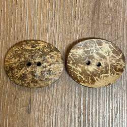 Knopf aus Kokosnuß – 2-Loch – oval - 51mm