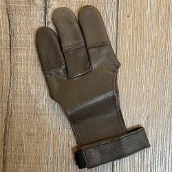 Bogensport - Schießhandschuh - weiches Echtleder - braun - Gr.5/XS
