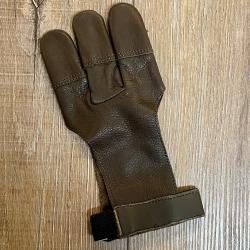 Bogensport - Schießhandschuh - weiches Echtleder - braun - Gr.6/S