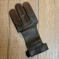 Bogensport - Schießhandschuh - weiches Echtleder - braun - Gr.8/L