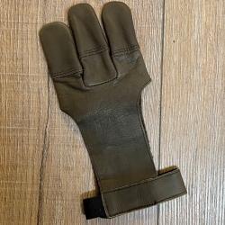 Bogensport - Schießhandschuh - weiches Echtleder - braun - Gr.9/XL