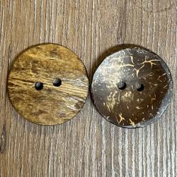 Knopf aus Kokosnuß Naturborke- 2-Loch - dunkelbraun - 38mm