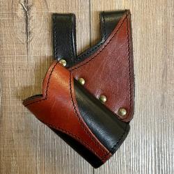 Leder - Schwert Halter zweifarbig - verschiedene Designs - schwarz/ rot