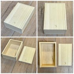 Zubehör - Box aus Bambus für Pokerkartenspiel mit Schiebedeckel - groß
