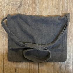 Tasche - Baumwolle - Umhängetasche einfach - grau