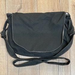 Tasche - Baumwolle - Umhängetasche gefüttert - größenverstellbar - schwarz
