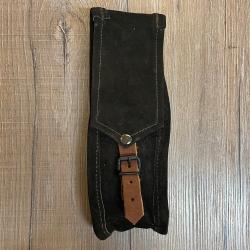 Tasche - Leder - Gürteltasche lang/ Bestecktasche - braun