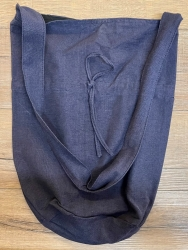 Tasche - Baumwolle - Umhängetasche LC mit Kordelzug - grobe Baumwolle - blau