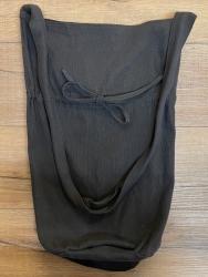 Tasche - Baumwolle - Umhängetasche LC mit Kordelzug - grobe Baumwolle - schwarz