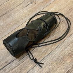 Leder - Flaschenhalter für 0,5l PET - schwarz