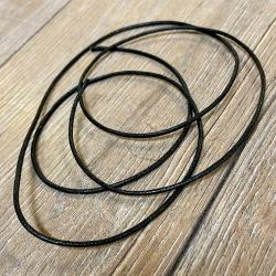 Baumwollband - 1,5mm laufender Meter - schwarz