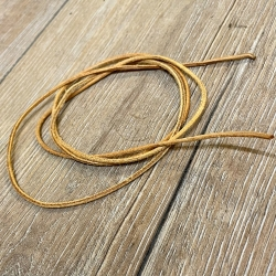 Lederband - 2,0mm, 1m - rund - natur