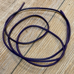 Lederband - 2,0mm, 1m - rund - violett/ lila