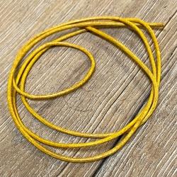 Lederband - 2,0mm, 1m - rund - gelb